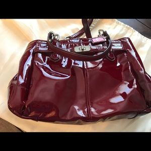 Patent Red COACH Bag
